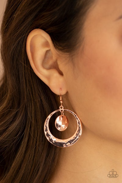 Rounded Radiance Copper Earrings