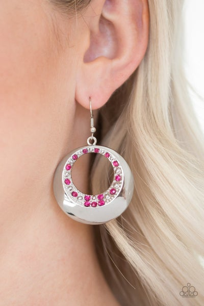 Ringed In Refinement Pink Earrings