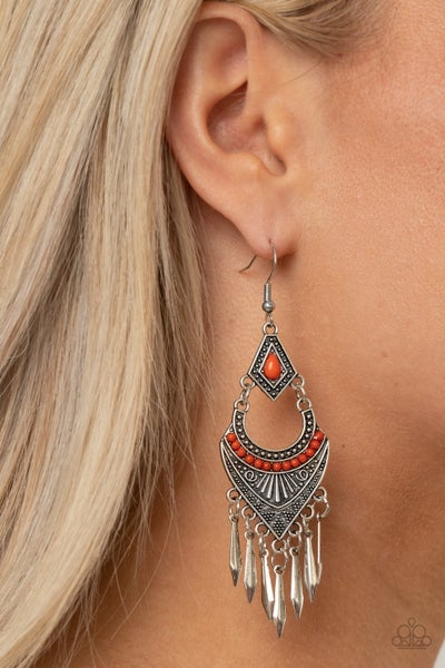 Trailblazer Beam Orange Earrings