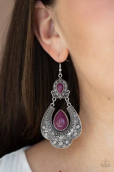 Rise and Roam Purple Earrings