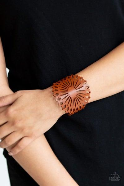 Wildflower Garden Brown Bracelet
