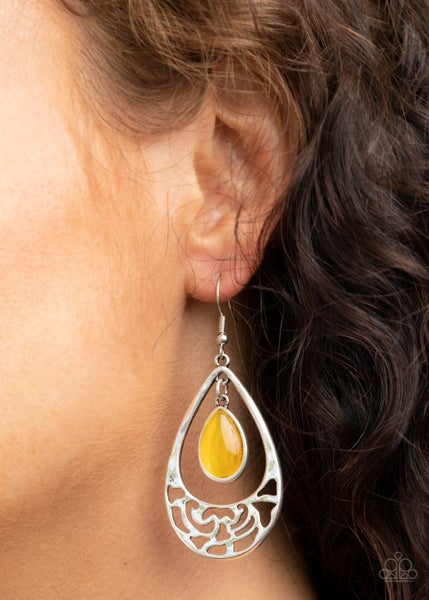 DEW You Feel Me Yellow Earrings