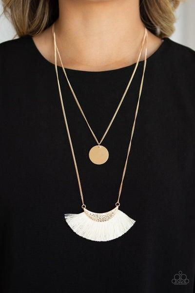 Tassel Temptation Gold Necklace