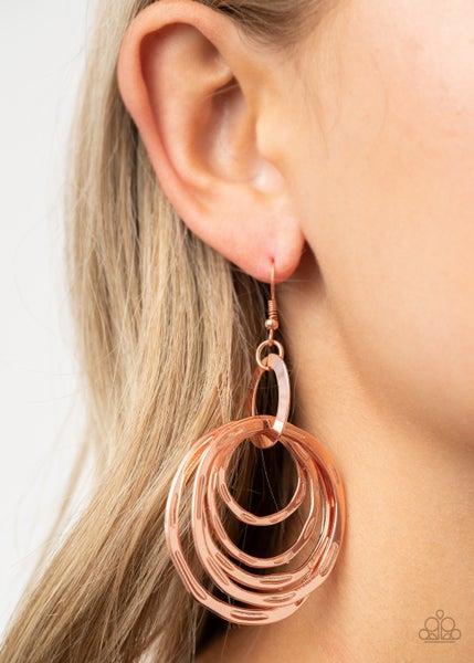 Ringing Radiance Copper Earrings