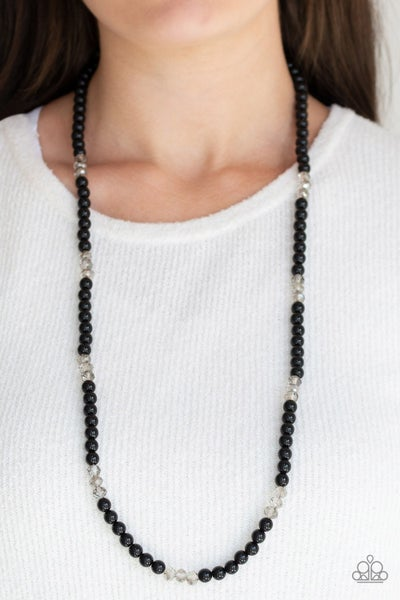 Girls Have More Funds Black Necklace