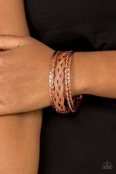 Straight Street Copper Bracelet