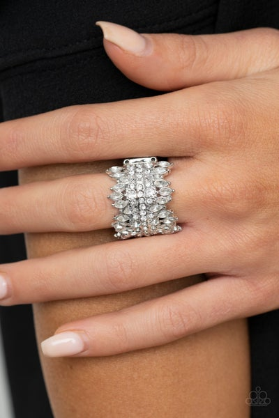 Cosmic Confetti White Ring