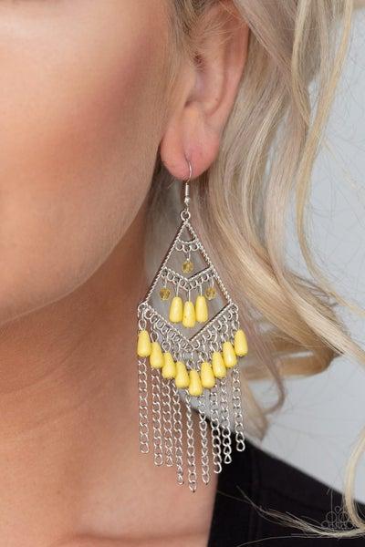 Trending Transcendence Yellow Earrings