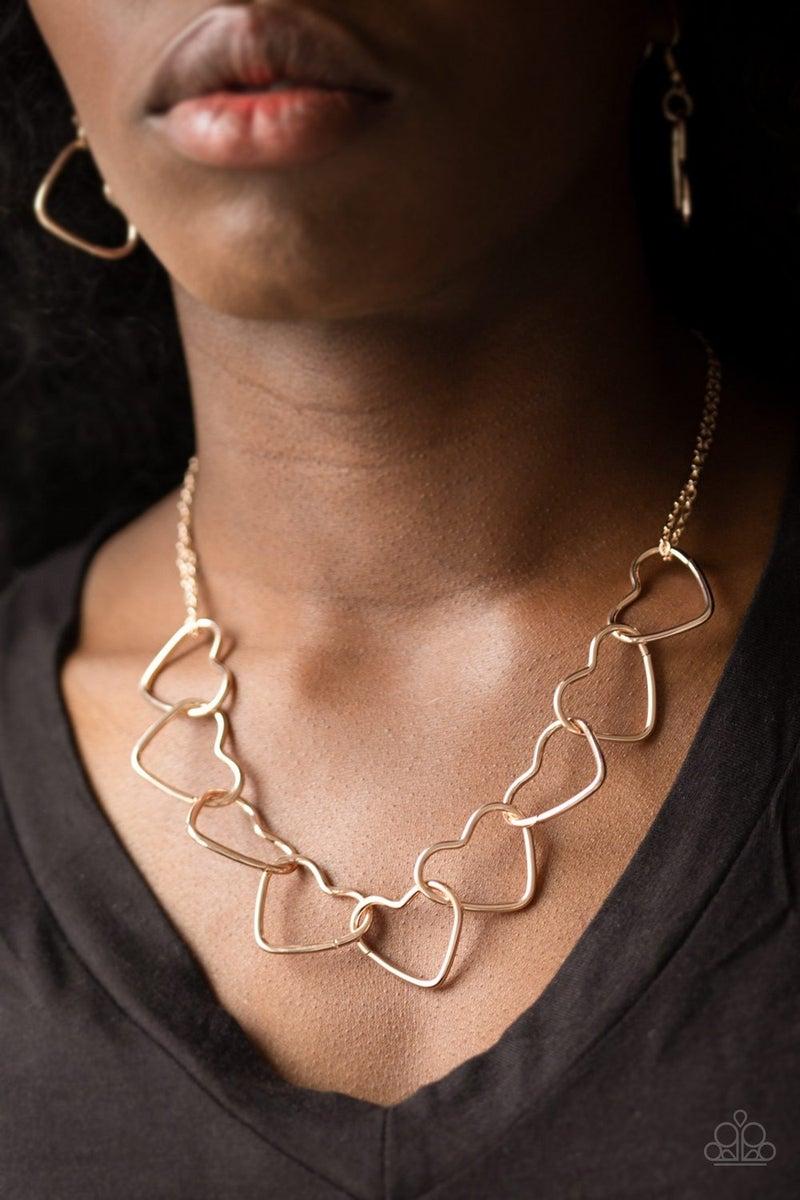 Unbreak My Heart Rose Gold Necklace