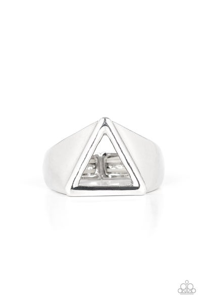 Trident Silver Mens Ring