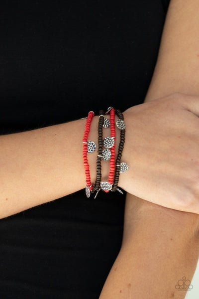 WOODn't Count It Red Bracelet