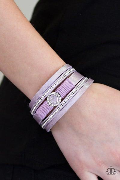 It Takes Heart Purple Bracelet