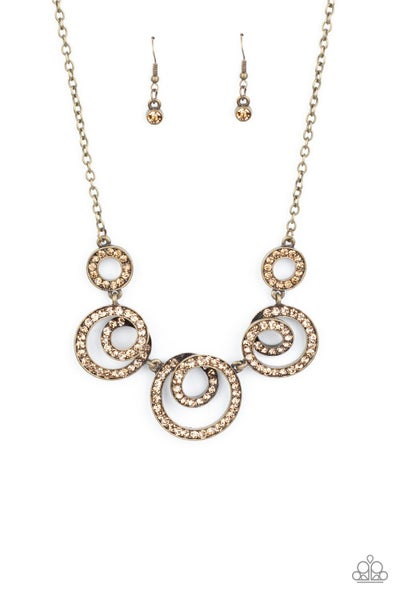 Total Head Turner Brass Necklace