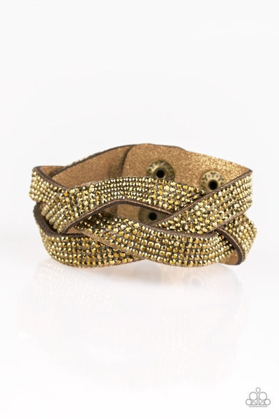 Nice Girls Finish Last Brass Bracelet