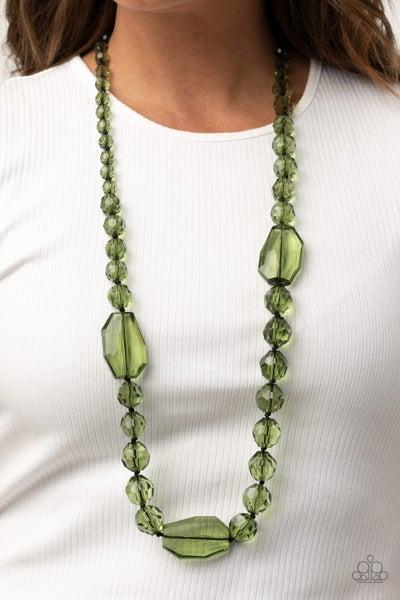 Malibu Masterpiece Green Black Necklace