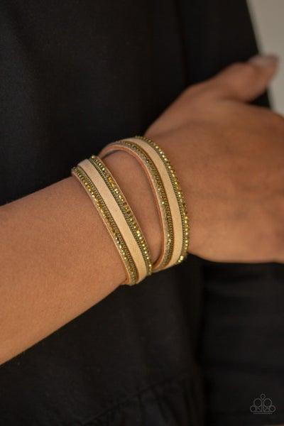 Going For Glam Brass Bracelet