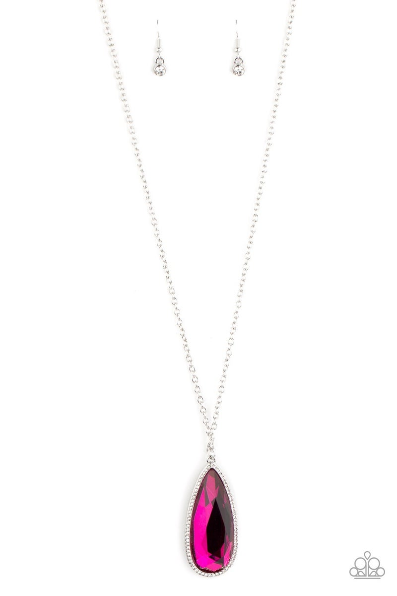 Watch Out For REIGN Pink Necklace