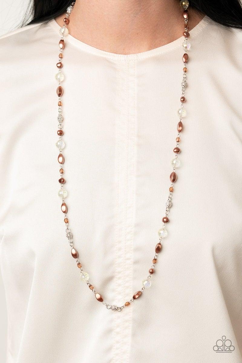 Twinkling Treasures Brown Necklace