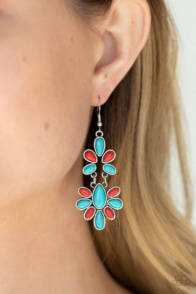 Cactus Cruise Red Turquoise Earrings