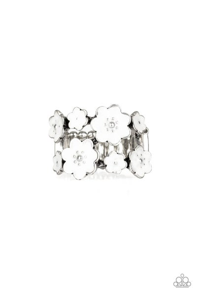 Floral Crowns White Ring