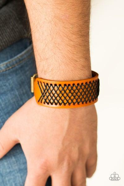 Cross The Line Brown Urban Bracelet