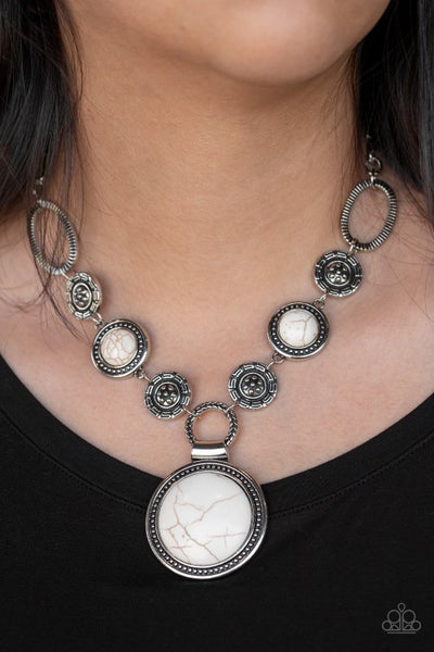 Sedona Drama White Necklace