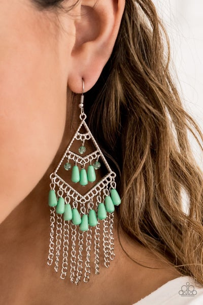 Trending Transcendence Green Earrings (Summer Exclusive)