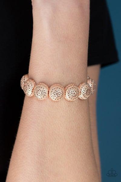 Obviously Ornate Rose Gold Bracelet
