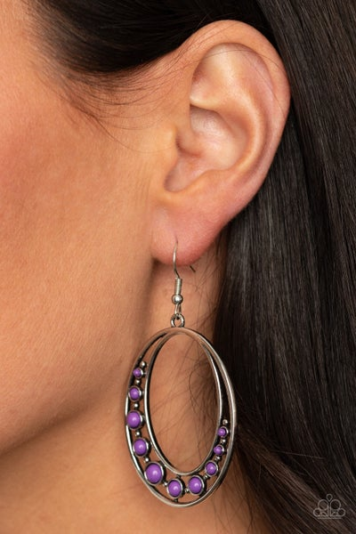 Crescent Cove Purple Earrings