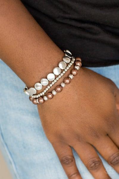 Girly Girl Glamour Brown Bracelet