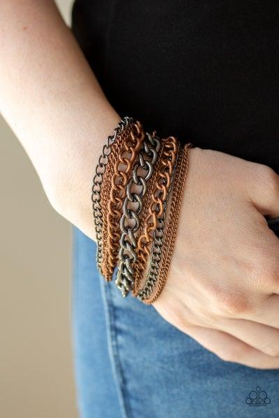 Metallic Horizon Copper Bracelet