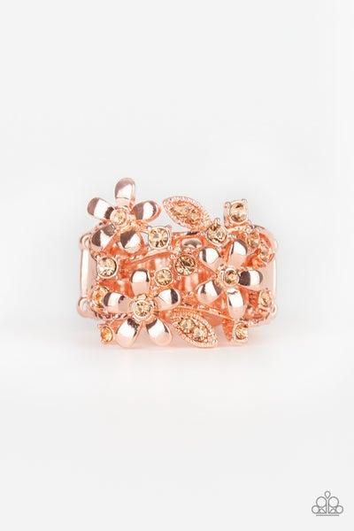 Gardenia Gleam Copper Ring