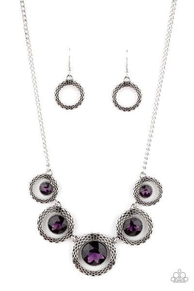 Pixel Perfect Purple Necklace