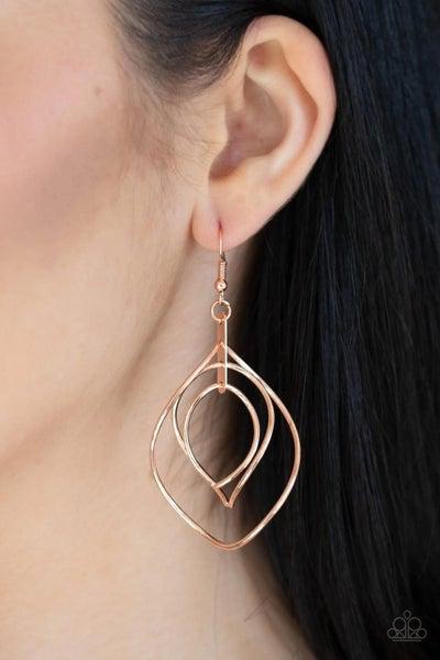Asymmetrical Allure Copper Earring