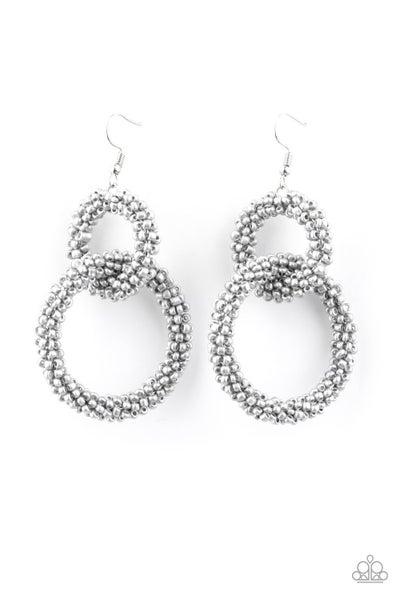 Luck BEAD A Lady Silver Earrings