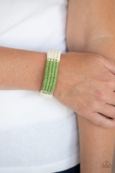 Hot Cross Bungee Green Bracelet