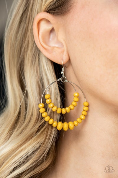 Paradise Party Yellow Earrings