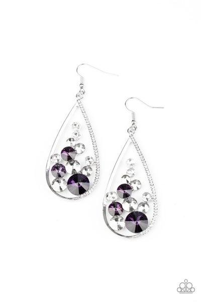 Tempest Twinkle Purple Earrings