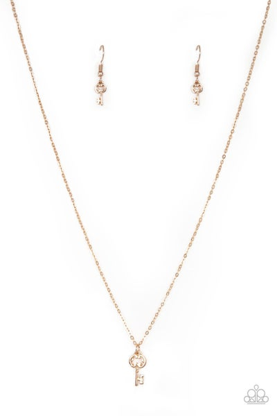 Very Low Key Rose Gold Necklace