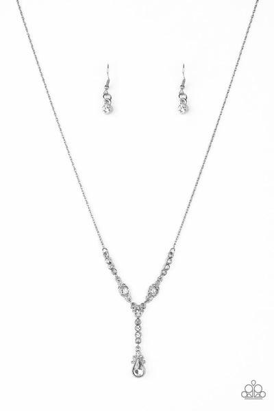 Diva Dazzle White Necklace
