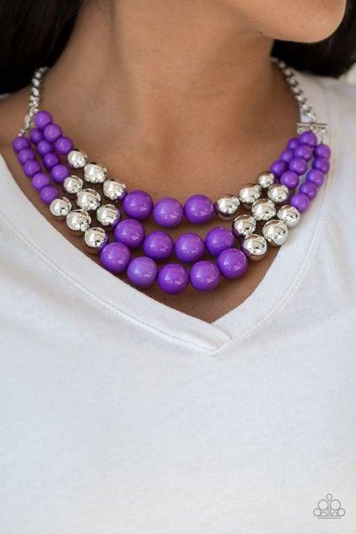 Dream Pop Purple Necklace