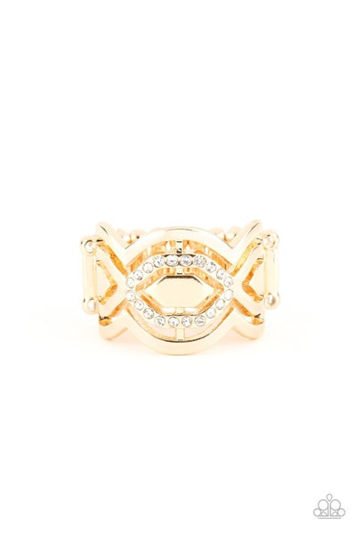 Divinely Deco Gold Ring