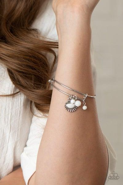 Mind, Body and Sol White Bracelet