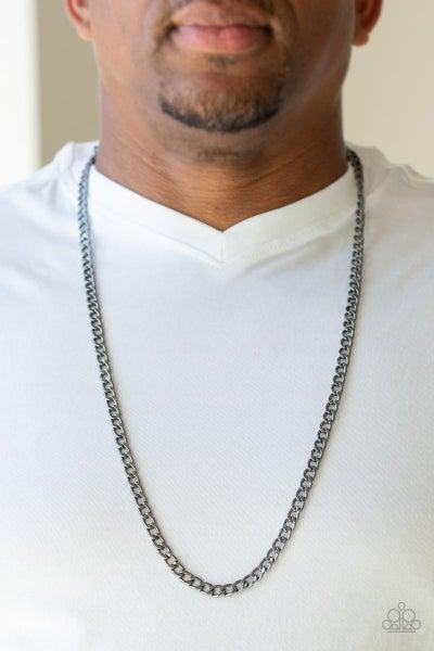 Delta Gunmetal Urban Necklace