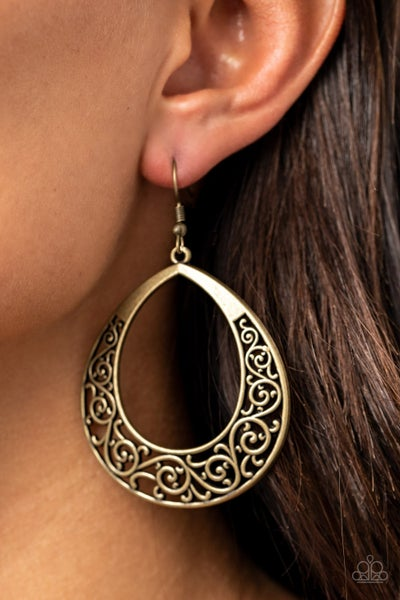 Vineyard Venture Brass Earrings