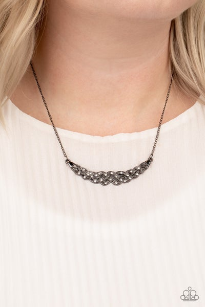 Whatever Floats Your Yacht Gunmetal Necklace