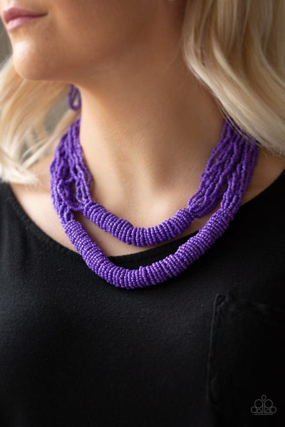 Right As RAINFOREST Purple Necklace
