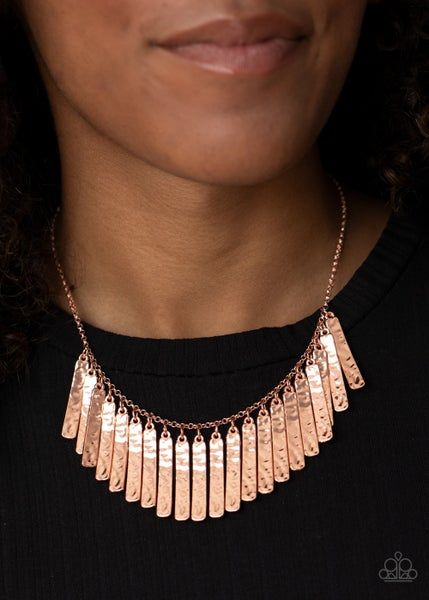 Metallic Muse Copper Necklace