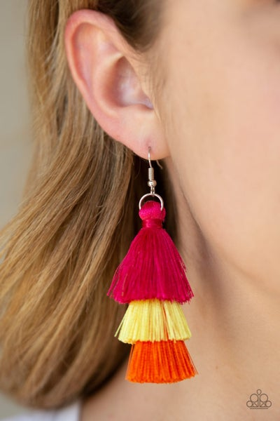 Hold On To Your Tassel Multi Earrings
