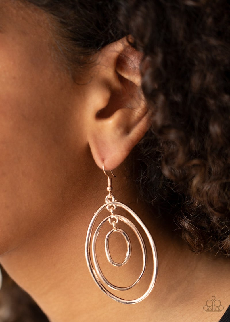 Retro Ruins Rose Gold Earrings